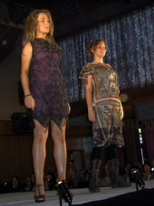 2 of the dresses I designed & made from scratch and entered into the college fashion show