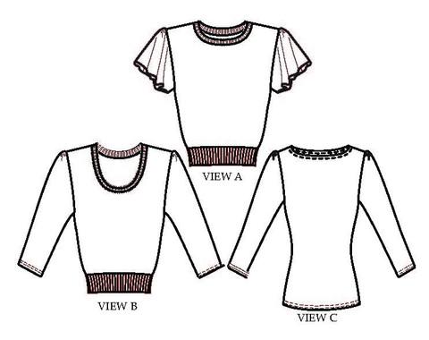 Buegingerdoll Bonnie Sweater Line drawings