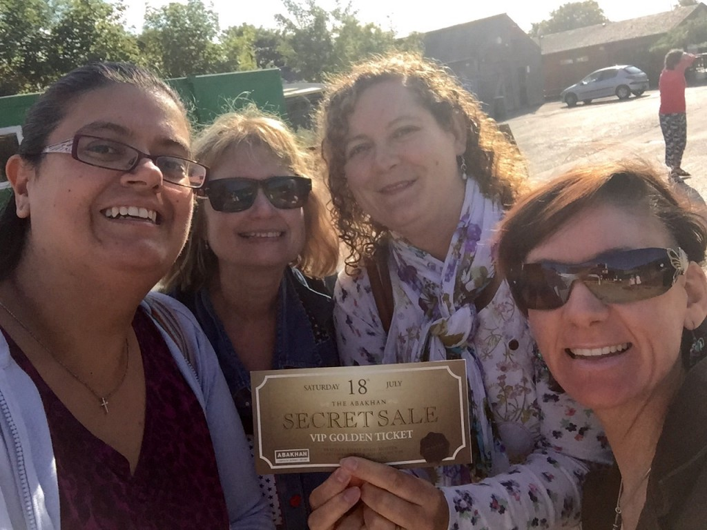 Me, Susan, Nele and Eleanor with out golden ticket!