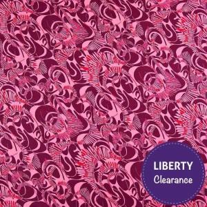 Liberty Tana Jersey Fabric Mitford Pink