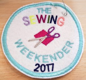 My sewing weekender embroidered patch