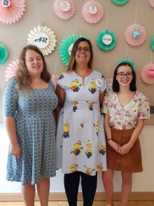 Anna, myself and Harriet at the sewing weekender