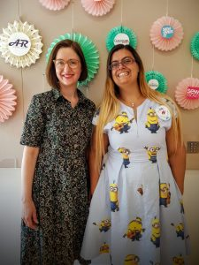 Lois and myself at the sewing weekender