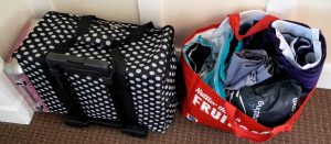 Bags packed for the sewing weekender
