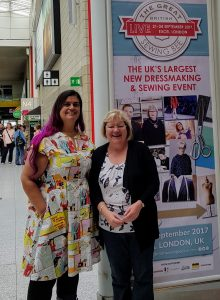 Myself & Jan at the Great British Sewing Bee Live